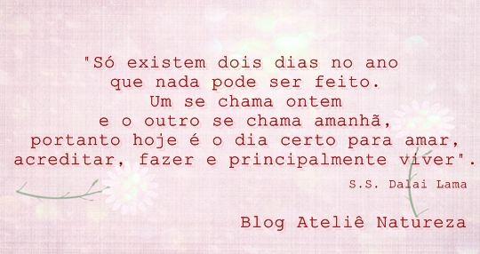 Lá no blog http://blog.atelienatureza.com.br/