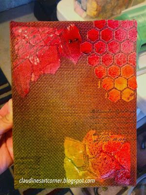 Claudine's Art Corner: Capture Life's Moments Fall Canvas...I'd like to try this on a journal page.