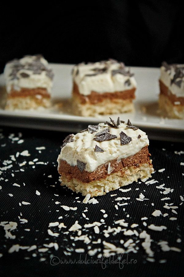Prajitura cu ciocolata si blat de cocos | Dulciuri fel de fel