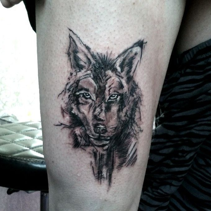 22 best 3d wolf tattoos watercolors images on pinterest. Black Bedroom Furniture Sets. Home Design Ideas