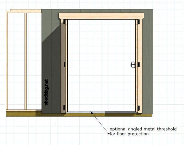 To build double shed doors, here's one of the easiest ways. Step by step illustrations on shed door construction.