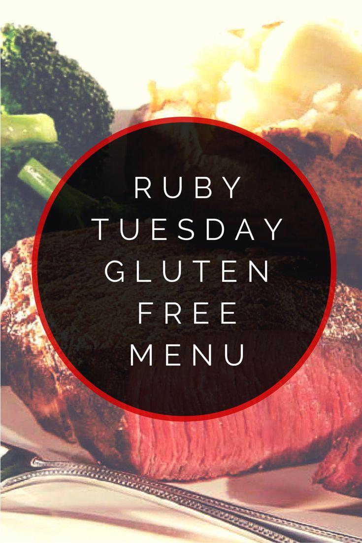 Ruby Tuesday Gluten Free Menu #glutenfree