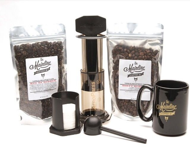 Our Aeropress kit is one of our hottest sellers. If your new to the coffee game it's a must have! You will receive two bags of fresh whole bean coffee and you're very own Aeropress. Head over to www.themainlinecoffeeco.com to get yours today