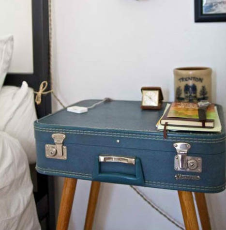 1000 images about valises on pinterest suitcase shelves - Comment faire une table de chevet ...