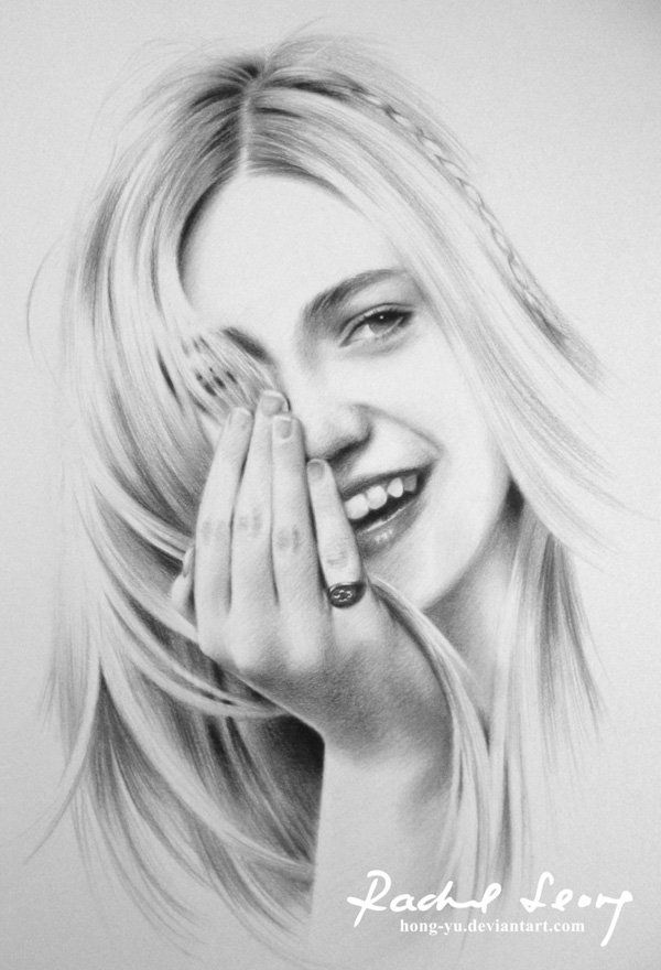 Happy by hong yu pencil drawings by leong hong yu