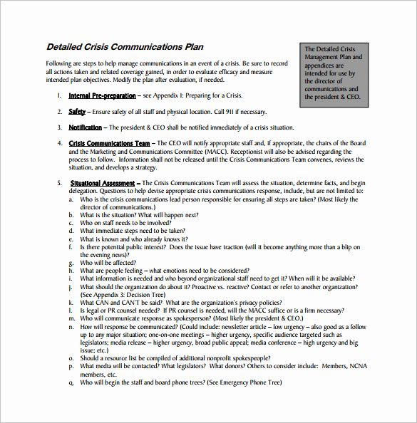 Crisis Communication Plan Template Best Of Munication Plan Template 9 Word Pdf Documents Communication Plan Template Communications Plan How To Plan