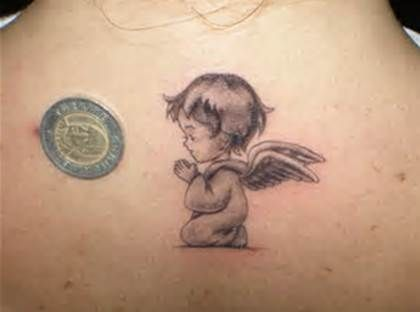 Praying baby angel tattoo 30 sweet angel tattoos for women for 90s baby tattoos