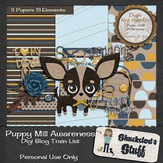 FREE Shuckclod's Stuff: Digi Blog Train List Puppy Mill Awareness Freebie