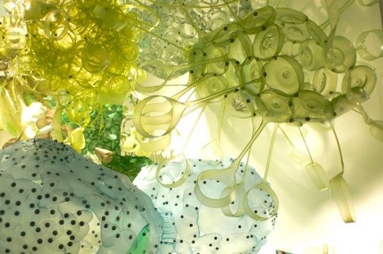 PET, plastic bottles, recycled art, Aurora Robson, green design, sustainable design, eco-design, eco-art, recycled art, pollution, waste, waste to treasure