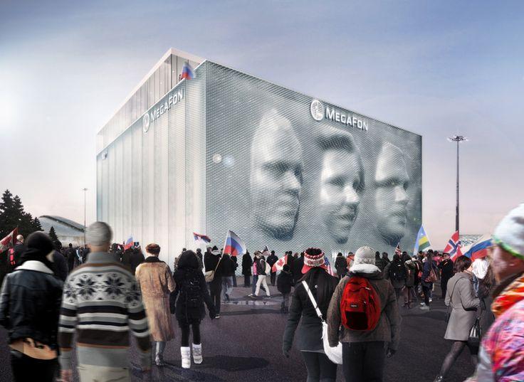 'Megaface' por asif khan y iart, Sochi, Rusia