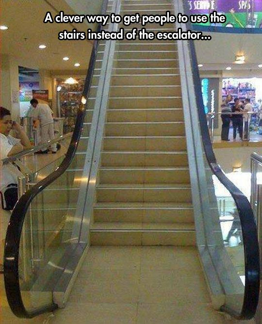 How To Trick People Into Using The Escalator
