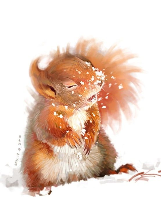200 best chipmunk squirrel images on pinterest for Cute watercolor paintings
