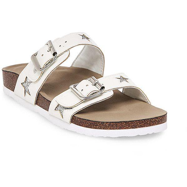 Madden Girl by Steve Madden Girl's Brando-N Sandals ($50) ❤ liked on Polyvore featuring shoes, sandals, white, steve madden, synthetic shoes, velvet platform shoes, platform sandals and velvet shoes
