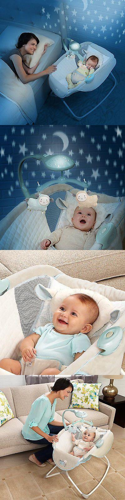 Baby Nursery: Moonlight Rocking Baby Sleeper Bassinet Cradle Newborn Crib Bed BUY IT NOW ONLY: $64.79
