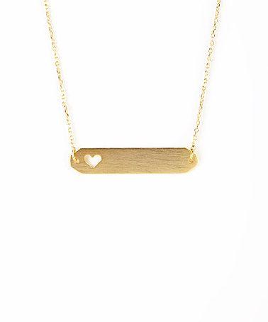 Gold Cutout Heart Necklace #zulily #zulilyfinds
