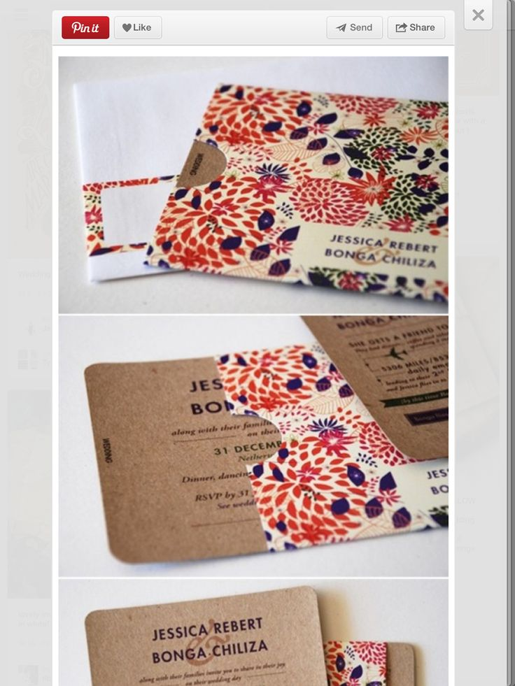 Love the little envelope for these invites!