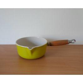 Vintage steelpan geel Le Creuset