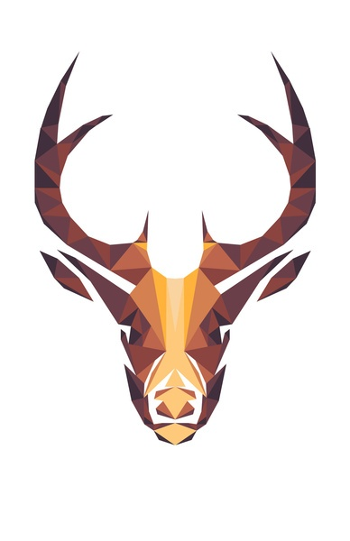Deer Art Print - maybe DIY with paint chips