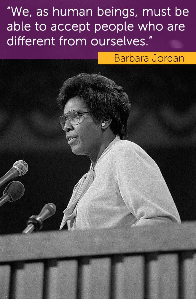 Barbara Jordan was the 1st woman ever elected to the Texas State Senate in 1966. She went on to become the 1st African American woman from the Deep South to serve in Congress and, at the 1976 Democratic National Convention, was the 1st African American woman to deliver the keynote speech. Jordan dedicated her career to helping minority & disadvantaged groups. | www.nwhm.org | National Women's History Museum | #BarbaraJordan #BHM #BlackHistoryMonth #AfricanAmericanWomen #WomensHistory #NWHM