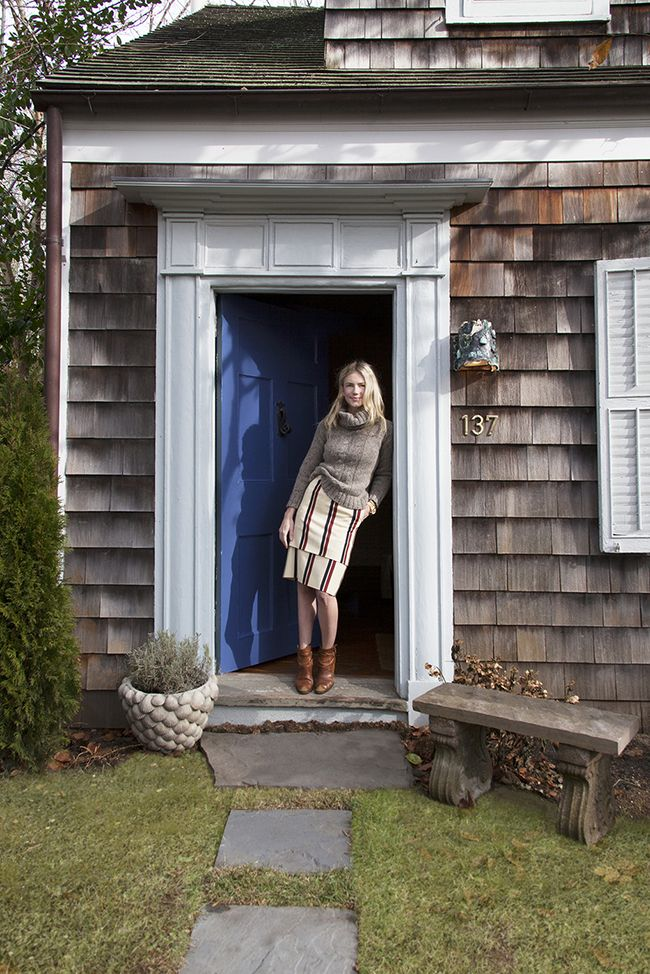 Michelle Smith's Shingle Style cottage in Sag Harbor featured in Lonny Magazine