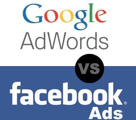 Google AdWords vs Facebook Ads vía @Raul Abad #Facebook #Google