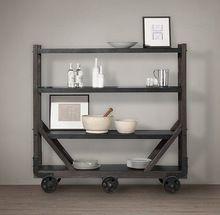 В американском стиле стране античный кухонный стол , чтобы сделать старые деревянные шкафы, Декоративная рамка, Чердак полки с колеса(China (Mainland))