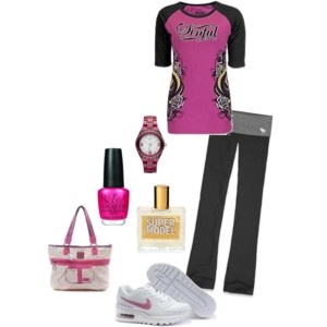 I think I would work out harder if I could have this outfit. :)