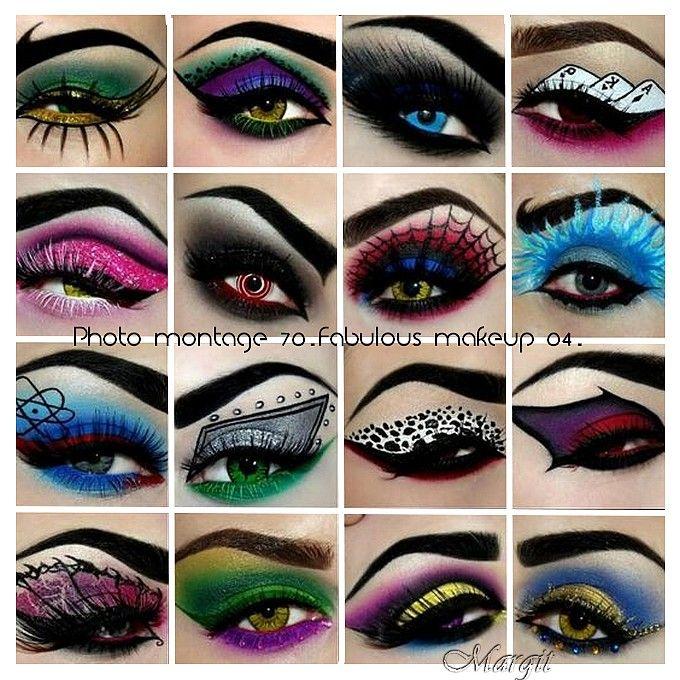 Photo montage 70. Fabulous makeup 04.
