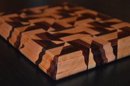 triangle designed cutting board