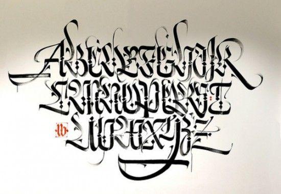Arabic Graffiti Alphabet A-Z Calligraphy Style in Abu Dhabi by Luca Barcellona