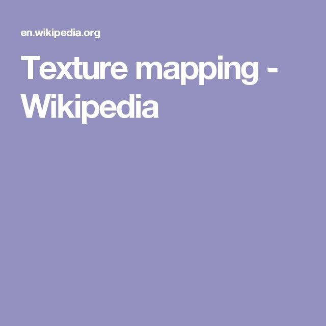 Texture mapping - Wikipedia