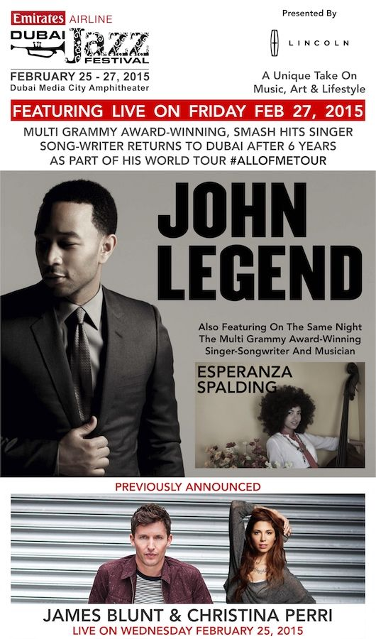 #TMAnnounced #MainGig #Day3 John Legend & Esperanza Spalding!  Get tickets now!
