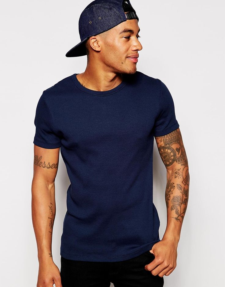 ASOS Muscle Fit T-Shirt In Stretch Rib