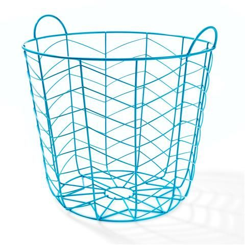 Aqua Coloured Basket   Kmart
