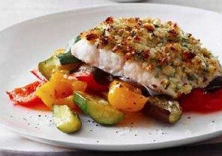 Grilled Cobia with Macadamia crust