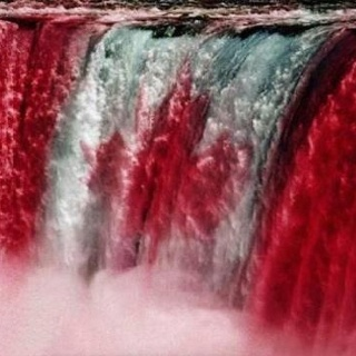 Canadian Flag on the Falls