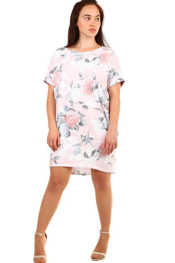 4e0b26b84eb1 Volné květované letní šaty pro plnoštíhlé - koupit online na Glara.cz