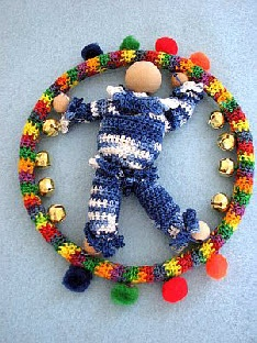 Clown Ring Mobil Free Crochet Pattern