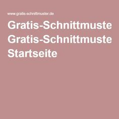 Gratis-Schnittmuster.de: Startseite