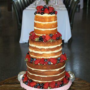 Fresh berries naked cake