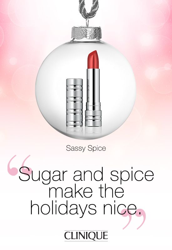 Make a statement this #holiday season with #Clinique High Impact Lip Colour in Sassy Spice. #Beauty #Makeup #Lipstick