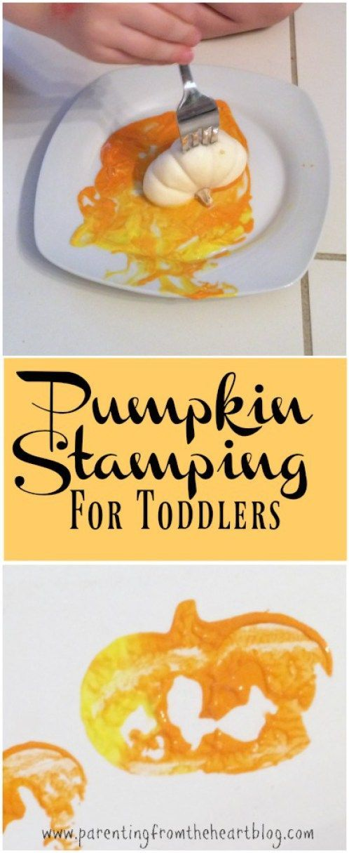 These Fall Toddler activities are REALLY easy to set up and your toddler can do…