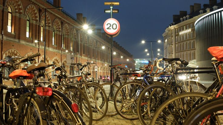 'Travel' is the theme, I think this one came out shweeet :D (Bike rack Between St Pancras and King's Cross)