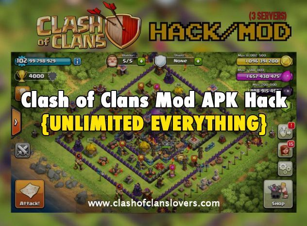 Clash Of Clans Hack 2020 Unlimited Gems Gold Elixir With