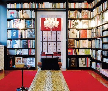 Bold & Dramatic Library | photo Christian Schaulin | House & Home