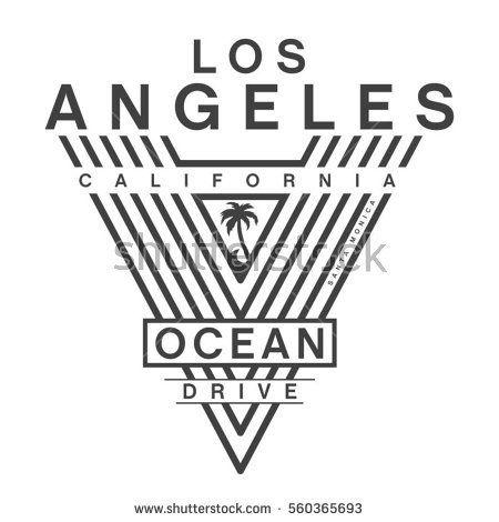 California ocean drive typography, tee shirt graphics, vectors