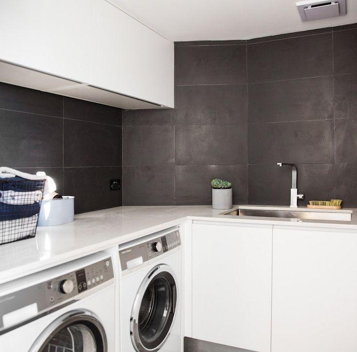 Caro and Kingi Room 5 | Study, Laundry and Powder #theblock #theblockshop #laundry