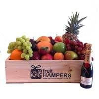 Moet Piccolo 200ml - Champagne Gift  Fruit Hampers for all Occasions - say it with fruit! *BIRTHDAY* *THANK YOU* *CONGRATULATIONS* *HOUSE WARMING* *FOR HIM* *FOR HER* *NEW BABY* *GRADUATION* *MOTHERS DAY* *I LOVE YOU* #fruithampers #gifthampers #australiangifts #corporategifts