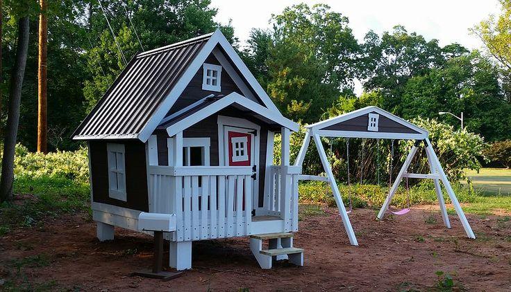 Best 25 big playhouses ideas on pinterest kids house for Big kid playhouse