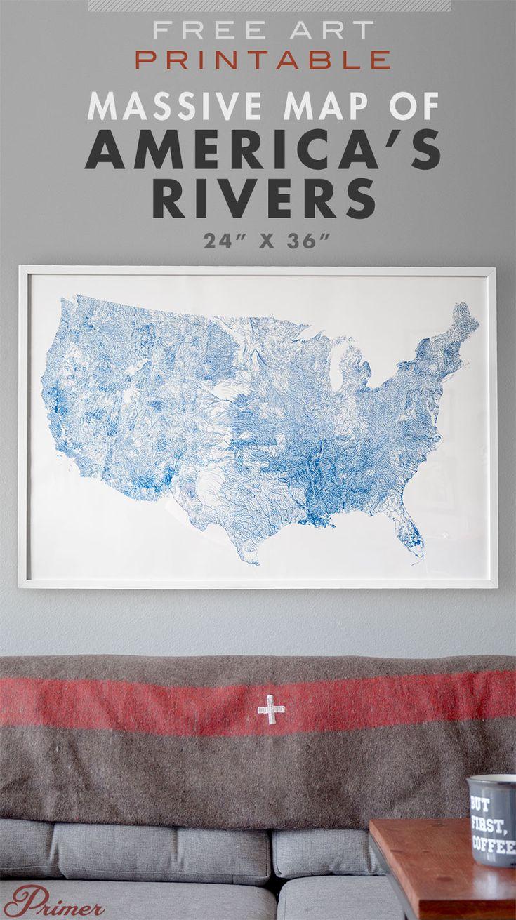 Free Printable Wall Art Americau0027s Rivers and